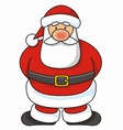 santa cartoon vector image