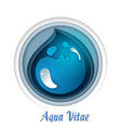 save water concept in paper vector image vector image