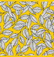 seamless pattern with stylized branches on a vector image vector image