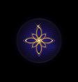 seed life symbol sacred geometry lotus logo vector image vector image
