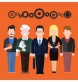 set characters silhouettes people different vector image vector image