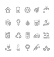 Set of eco energy icons with nuclear and solar vector image
