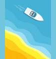 ship floating in ocean vector image