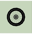 silhouette of a bicycle wheel with tyre and vector image vector image
