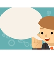 Speaking Businessman and speech bubble vector image vector image