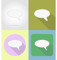 speech bubbles flat icons 04 vector image vector image