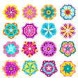 spring flowers icons retro flowers clip art vector image vector image