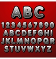 Stock font pointillism Letters and Numbers