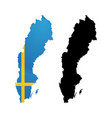 symbol of sweden in color from national flag vector image