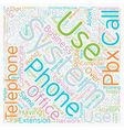 Telephone Systems In The Office text background vector image vector image