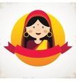 the face an Indian girl in vector image vector image