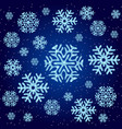 the texture on christmas theme snowflakes on a vector image