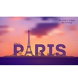Typographical Paris Retro Style Poster vector image