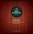 vintage brown wood plank as texture and background vector image