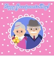 Happy senior man woman family with flowers vector image
