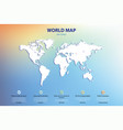 world map silhouette elements vector image