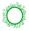 Green environment symbols vector image