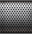 perforated metallic seamless pattern vector image