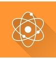 Atomic model icon vector image