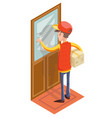 express courier special delivery boy man messenger vector image