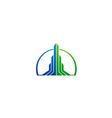 abstract building arrow cityscape business logo vector image