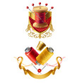 3d realistic tailor emblems for sewing vector image