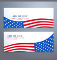 4th july flag banners vector image vector image