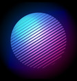 80s retro style striped halftone circle shape vector image vector image