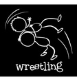 A wrestling sports vector image