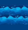 abstract sea water waves seamless pattern vector image