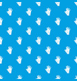 baby and mother hand pattern seamless blue vector image vector image