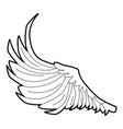 bird big wing icon outline style vector image vector image