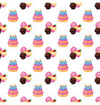 birthday pattern birthday cake with candles for vector image vector image