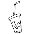 black and white soda vector image vector image