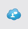 Blue cloud conversation icon vector image vector image