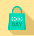 boxing day shop bag logo set flat style vector image vector image