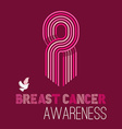 Breast cancer awareness campaign pink ribbon of vector image vector image