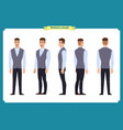 business casual fashionyoung man for animation vector image