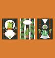 cactus banners houseplant vector image