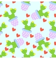 Cactus pattern background Cute cacti vector image vector image