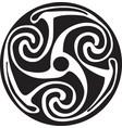 celtic symbol - tattoo or artwork vector image vector image