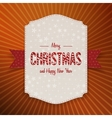 Christmas realistic big Banner with red Ribbon vector image vector image