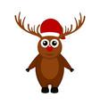christmas reindeer cartoon character vector image vector image