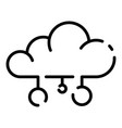 cloud server icon outline style vector image vector image