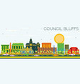 council bluffs iowa skyline with color buildings vector image vector image