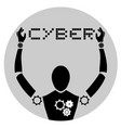 cyber robot vector image vector image