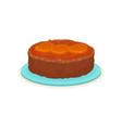 flat icon of round cake with jam and vector image