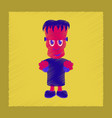 flat shading style icon zombie men vector image vector image