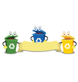 Funny Recycling Bins vector image vector image