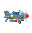funny retro plane vector image